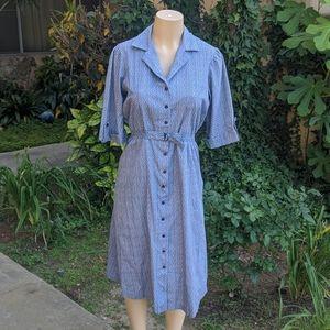 Dresses & Skirts - Blue Floral 40s Vintage Dress (M)